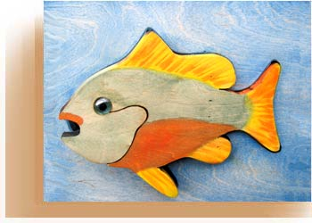 Custom Crafted Wooden Fish Plaques
